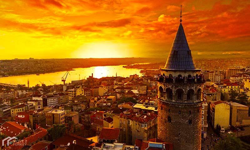 Galata Tower sunset