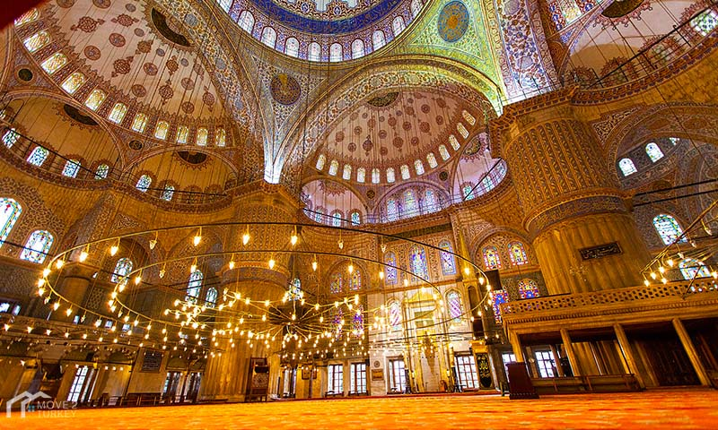 Sultan Ahmed Mosque | the blue Mosque inside