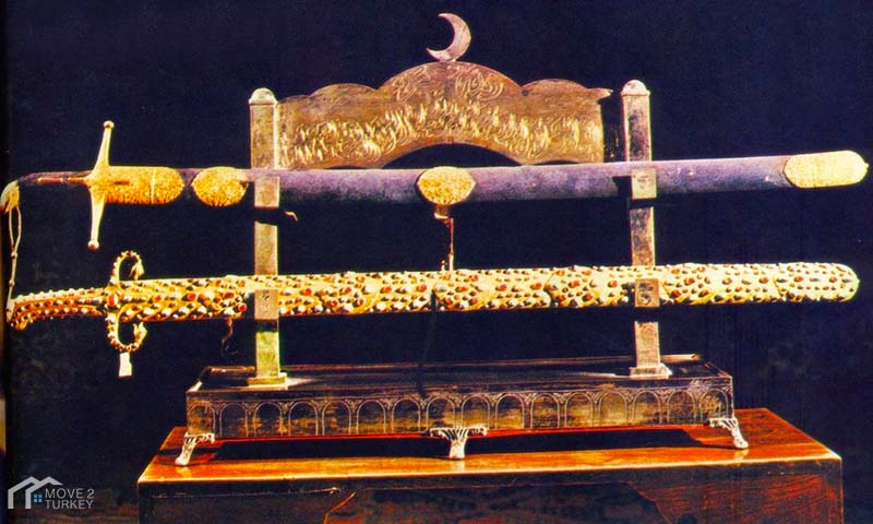 The prophet Muhammed sword in the Topkapi Palace