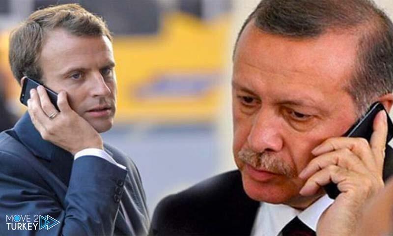 A phone call between Macron and Erdogan regarding the Eastern Mediterranean
